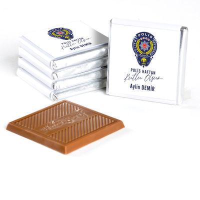 10 Nisan Polis Haftasına Özel (32 Adet Madlen Çikolata) Metal Kutu