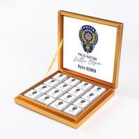 - 10 Nisan Polis Haftasına Özel 32 Madlen Çikolata (Gold Kutu) Polise Hediye