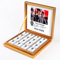 - Fotoğraflı 10 Nisan Polis Haftasına Özel 32 Madlen Çikolata (Gold Kutu) Polise Hediye