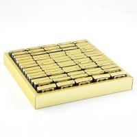 - Pleksi Dekorlu Söz Nişan Lokumu (Gold Kutu Asetat)