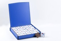- Ahşap Kutuda Erkek Bebek Çikolatası (100 Madlen )
