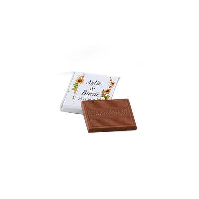 Ahşap Tepside Kız İsteme Çikolatası (120 Adet Madlen Çikolata)