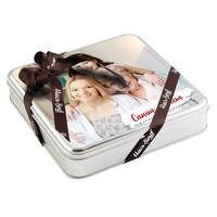 Anneye Fotoğraflı Hediye 32 Adet Madlen Çikolata (Metal Kutu) - Thumbnail