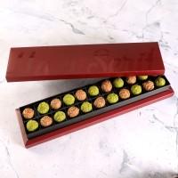 Hacı Şerif - Tahinli - Antep Fıstıklı Truffle Çikolata Bordo Kutu 22 Adet