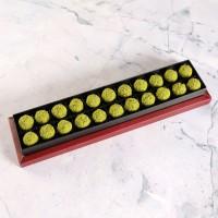 Antep Fıstıklı Truffle Çikolata Bordo Kutu 22 Adet - Thumbnail