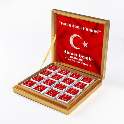 Hacı Şerif - Asker Çikolatası 32 Adet Madlen Çikolata Gold Kutu