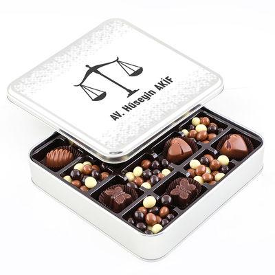 Hacı Şerif - Avukata Hediye Kahve Drajeli Special Çikolata (Metal Kutu)