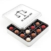 Hacı Şerif - Avukata Hediye Karışık Special Truffle Çikolata (Metal Kutu)