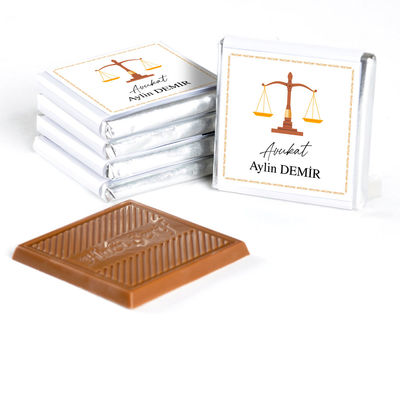 Avukata Özel Hediye 32 Madlen Çikolata (Gold Kutu)
