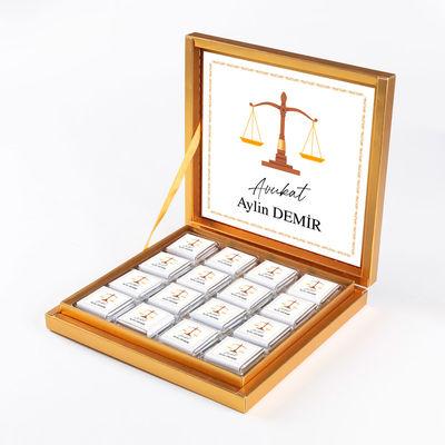- Avukata Özel Hediye 32 Madlen Çikolata (Gold Kutu)