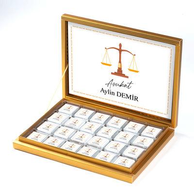 - Avukata Özel Hediye 48 Adet Madlen Çikolata (Gold Kutu)