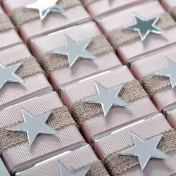 Aynalı Yıldız Dekorlu Kız Bebek Çikolatası (Madlen+Draje) - Thumbnail