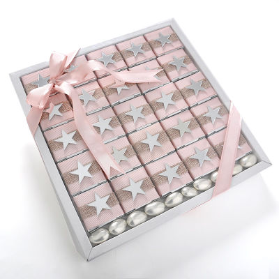 Aynalı Yıldız Dekorlu Kız Bebek Çikolatası (Madlen+Draje)