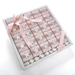 - Aynalı Yıldız Dekorlu Kız Bebek Çikolatası (Nota+Draje)