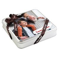Babaya Fotoğraflı Hediye 32 Adet Madlen Çikolata (Metal Kutu) - Thumbnail