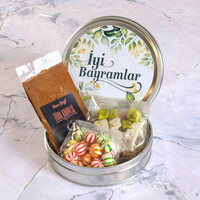 Hacı Şerif - Bayram Hediyesi Lezzet Paketi (9 Farklı Lezzet Yuvarlak Metal Kutu)