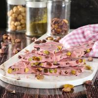 Bayramyeri Kırık Çilekli Antep Fıstıklı Çikolata 250g - Thumbnail