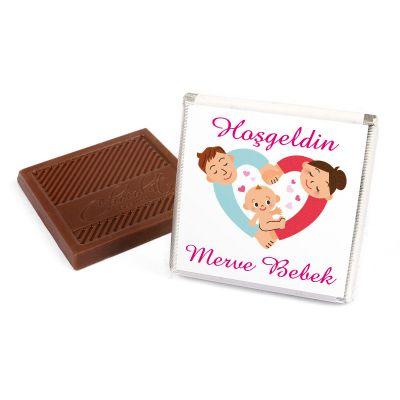 Bebek Çikolatası Kız Madlen (Sunum Kutusu+32 Madlen Çikolata)
