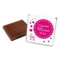 Bebek Çikolatası Kız Madlen (Sunum Kutusu+32 Madlen Çikolata) - Thumbnail