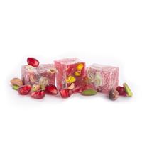Çifte Kavrulmuş Antep Fıstıklı Narlı Lokum (500 g)- Renkli Kutu - Thumbnail
