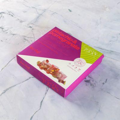 Çifte Kavrulmuş Antep Fıstıklı Narlı Lokum (250 g)- Renkli Kutu