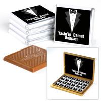Hacı Şerif - Damat Bohçası 48 Adet Madlen Çikolata (Model 1)