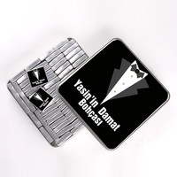 Damat Bohçası (Ç. Kavrulmuş Lokum) 72li Metal Kutu (Model-1) - Thumbnail