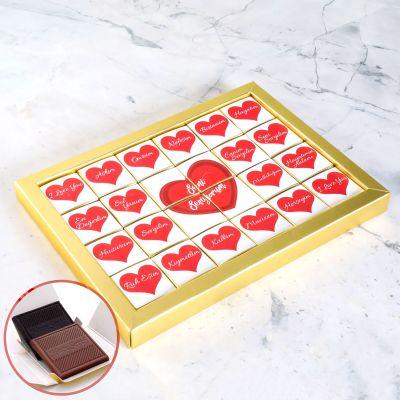 Mesajlı Sevgiliye Hediye Çikolata