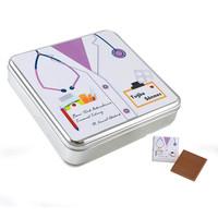 Hacı Şerif - Doktora Hediye Metal Kutuda 32 Adet Madlen Çikolata (Bayan)