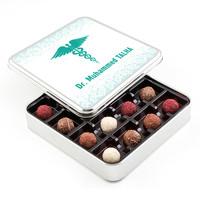 Hacı Şerif - Doktora Hediye Karışık Special Truffle Çikolata (Metal Kutu)
