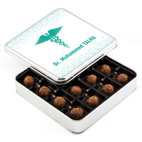 Hacı Şerif - Doktora Hediye Tahinli Truffle Çikolata (Metal Kutu)