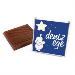Erkek Bebek Çikolatası (72 Madlen Çikolata+Sunum Kutusu) - Thumbnail