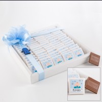 Hacı Şerif - Erkek Bebek Çikolatası - Model : 69 ( 80 Madlen Çikolata )