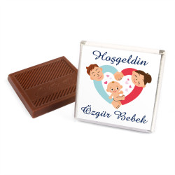Erkek Bebek Dökme Bebek Çikolatası (50 Adet Madlen Çikolata) - Thumbnail