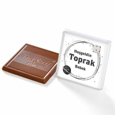 Erkek Bebek Dökme Bebek Çikolatası (70 Adet Madlen Çikolata)