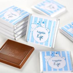 - Erkek Bebek Dökme Bebek Çikolatası (70 Adet Madlen Çikolata)