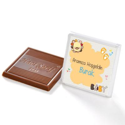 Erkek Bebek Tepsi (50 Madlen Çikolata) + 150 Badem Şekeri