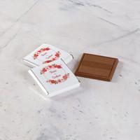 Etiket Baskılı Söz-Nişan Çikolatası (Metal Yuvarlak Kutu) 70 Adet Madlen Çikolata+Gül Suyu Hediyeli - Thumbnail