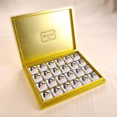 Fotoğraflı 48 Madlen Çikolata 335g Gold Kutu