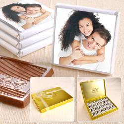 Hacı Şerif - Fotoğraflı 48 Madlen Çikolata 335g Gold Kutu