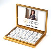 - Fotoğraflı 5 Nisan Avukatlar Gününe Özel 48 Adet Madlen Çikolata (Gold Kutu) Avukata Hediye