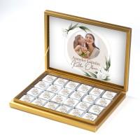 - Fotoğraflı Anneler Günü Hediyesi 48 Adet Madlen Çikolata (Gold Kutu) Model:2