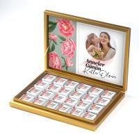 - Fotoğraflı Anneler Günü Hediyesi 48 Adet Madlen Çikolata (Gold Kutu) Model:1