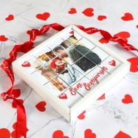 Hacı Şerif - Fotoğraflı Sevgiliye Hediye 16 lı Puzzle Madlen Çikolata