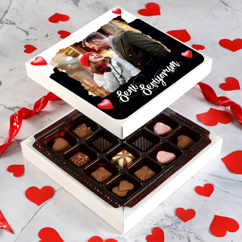 Hacı Şerif - Fotoğraflı Sevgiliye Hediye Özel Special Çikolata (Minik Lezzetler) Model:2