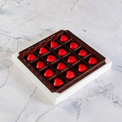 Fotoğraflı Sevgiliye Hediye Yaldızlı Kalp Çikolata (165g)