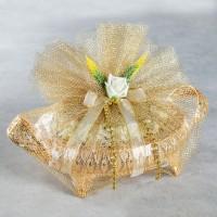 Hacı Şerif - Gold Oval Tepside Tektaş Kız İsteme Çikolatası (Beyaz Çiçekli)_Kopya(1)