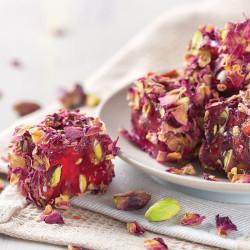 - Gül Yapraklı Narlı Antep Fıstıklı Special Lokum