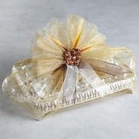 Hacı Şerif - Gümüş Tepside Kız İsteme Çikolatası (Çiçek Süslemeli)