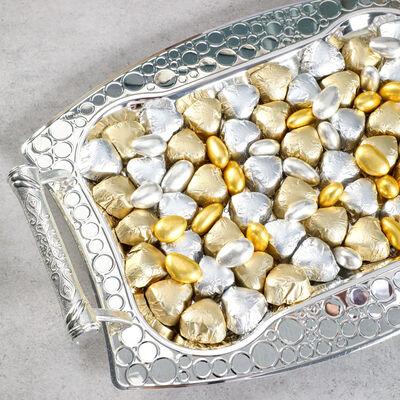 Gümüş Tepside Kız isteme Çikolatası